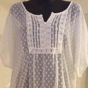 RXB Sheer Blouse Size Large